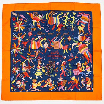 Hermès, 'Din Tini Yä Zuë', scarf.
