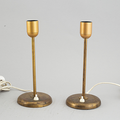 A pair of table lamps produced by böhlmarks, mid 20th century.