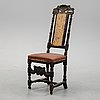 A baroque chair from around the year 1700.