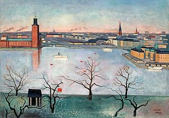 """68. EINAR JOLIN, """"Stockholm från Söders höjder""""."""