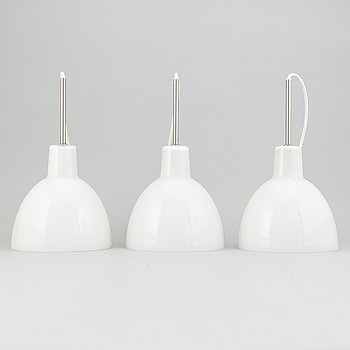 Louis Poulsen, a set of three 'Toldbod' ceiling lights, Denmark.