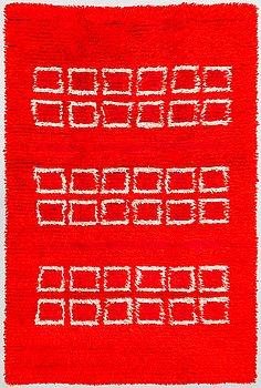 Eila Lamminen, a Finnish long pile rug for Neovius. Circa 215x140 cm.