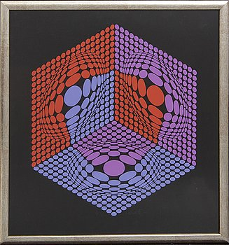 Victor Vasarely, serigraph in colours signed and numbered IX/XXV.