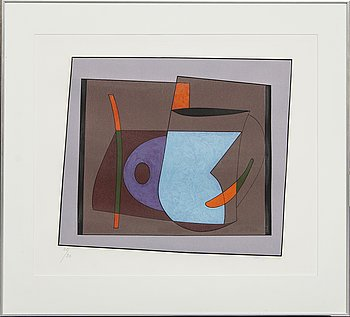 Albert Johansson, etching, signed and numbered 28/90.