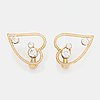 Wa bolin a pair of earrings in 18k gold and white gold set with round brilliant-cut diamonds.
