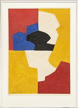 Serge Poliakoff, efter, färglitografi, signerad Serge Poliakoff i trycket och numrerad 77/90 med blyerts.