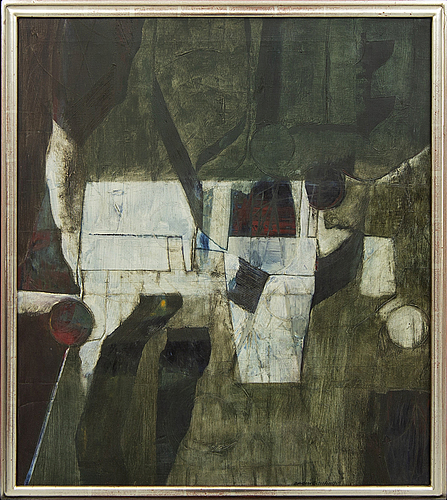 Anders österlin, a signed and dated 1964 oil on canvas.