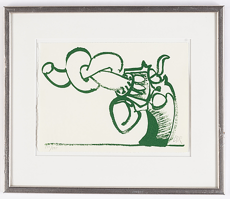 Carl fredrik reuterswärd, litograph in colours, signed and numbered 231/295.