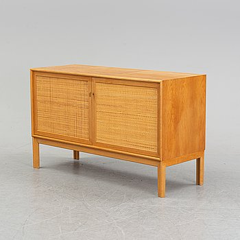 An oak and rattan sideboard by Alf Svensson for Bjästa snickerifabrik, 1960's.
