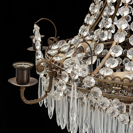 An empire style chandelier, mid 20th century.