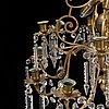 An oscarian chandelier, around the year 1900.