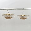 Ceiling lights, a pair, glass, mid-20th century.