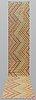 A runner, kilim, ca  484 x 84 cm.