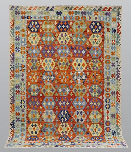 A carpet, kilim, ca 281 x 208 cm.