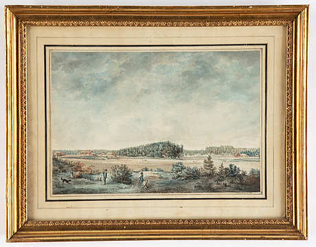 Fredric soulander, watercolour, signed and dated 1809.