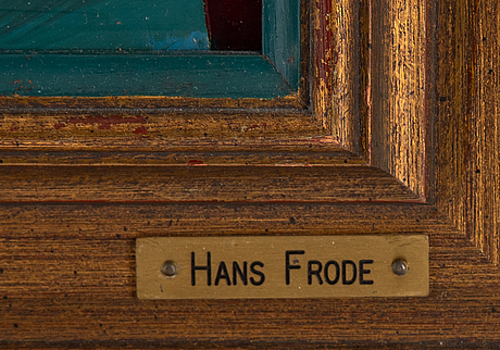 Hans frode, mixed media, signed and dated 1997 verso.