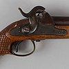 A swedish pair of percussion pistols 1850 pattern.