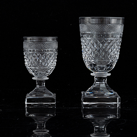 24 pcs of the 'kent' glass service fron kosta.