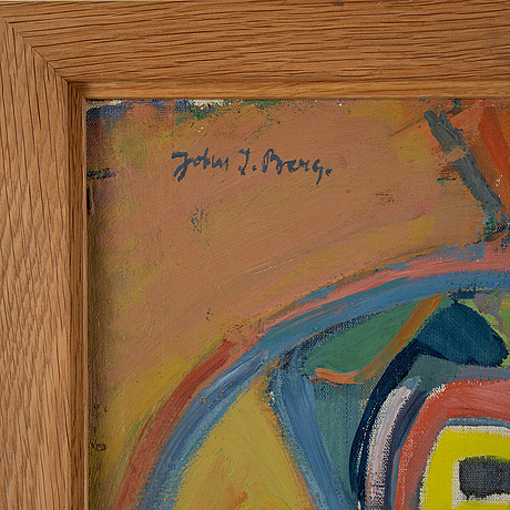 John ivar berg, olja på duk/pannå, signerad.