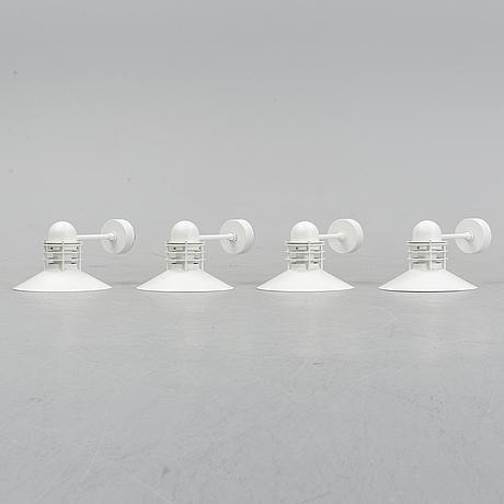 Four outdoor lamps by alfred homann & ole v. kjear for louis poulsen, denmark.