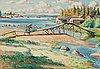 Leander engström, olja på duk, signerad och daterad 1926.