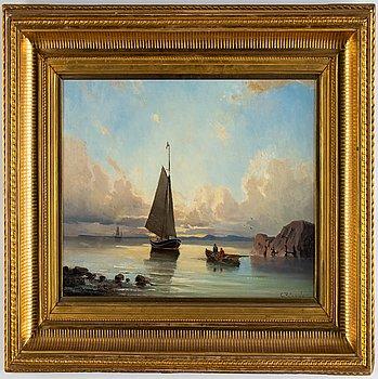 Christian Fredrik Swensson, oil on canvas, signed.