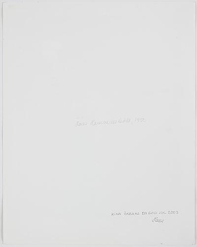 Hans hammarskiöld, photograph signed on verso.