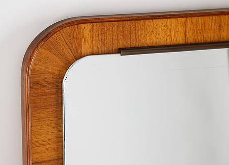 A teak mirror, mid 20th century.