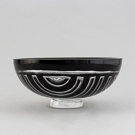 Lars hellsten, a glass bowl, orrefors gallery, 1988.