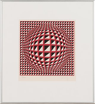 Victor Vasarely, lithograph, signed and numbered 60/200.