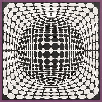 Victor Vasarely, silkscreen, signed and numbered 19/100.