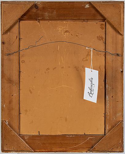 Gerda tirén, oil on canvas laid on board, signed gerda rydberg.