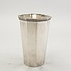 A swedish 20th century sterling silver vase mark of g janson/cg hallberg stockholm 1953, weight 531 gr, height 18,5 cm.