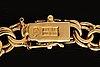 Collier 18k guld, doserad bismarck-länk, 47,7 g, längd och bredaste del  ca 48 x 1 cm.
