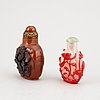 Two chinese snuff bottles, early 20th century.