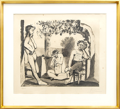 Pablo picasso, after, aquatint, signed and numbered 85/250.