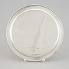 A sterling silver plate, maker's mark atelier borgila, stockholm, 1943.