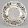 A swedish silver baroque style platter, maker's mark gab, stockholm, 1943.