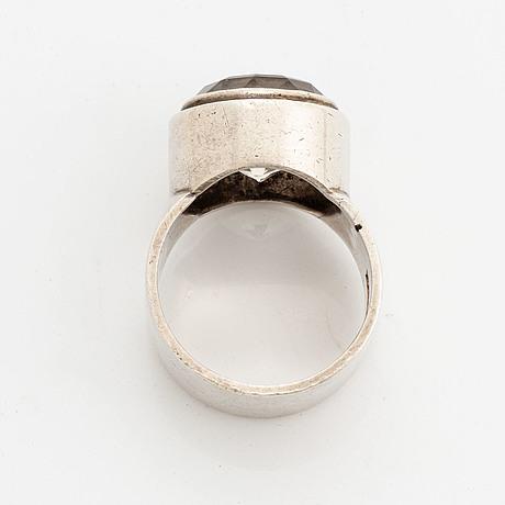 Anders högberg, ring silver and rock crystal.