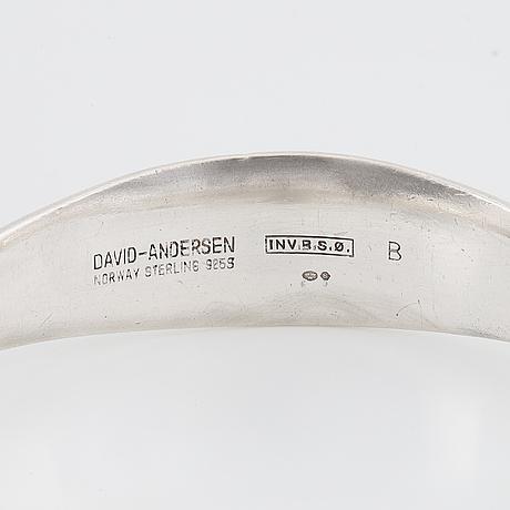 David andersen norway, bangle, sterlingsilver.
