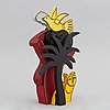 Beverloo corneille, skulptur, bemålat trä, signerad och numrerad 711/ 999.