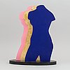 Michael qvarsebo, painted wood, signed and numbered 5/8.