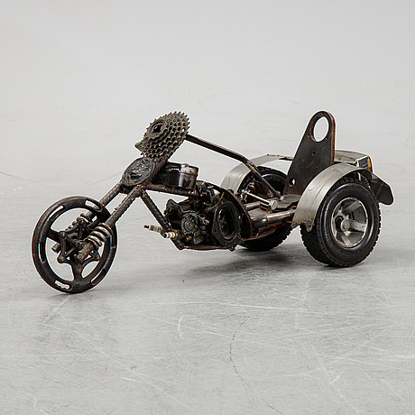 Bob pasterkamp, sculpture, metal, signed and dated 1995.