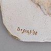 Bram bogart, relief, signed bogart, verso stamped f. delille, paris/ atelier studio jm foubert, dated 1998.