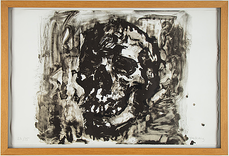 Yan pei-ming 严培明, lithograph, signed and numbered 23/75.