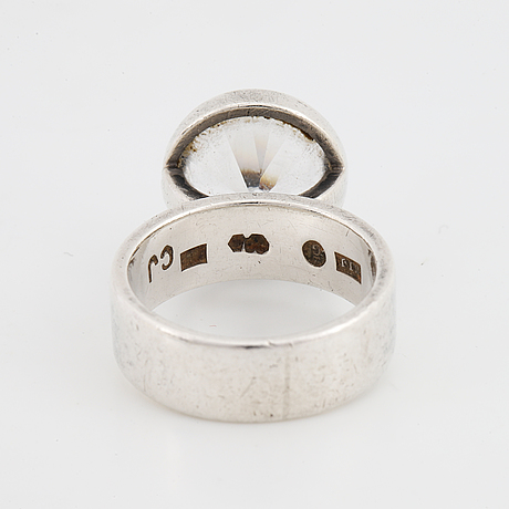 Cecilia johansson, ring silver with synthetic white spinel.