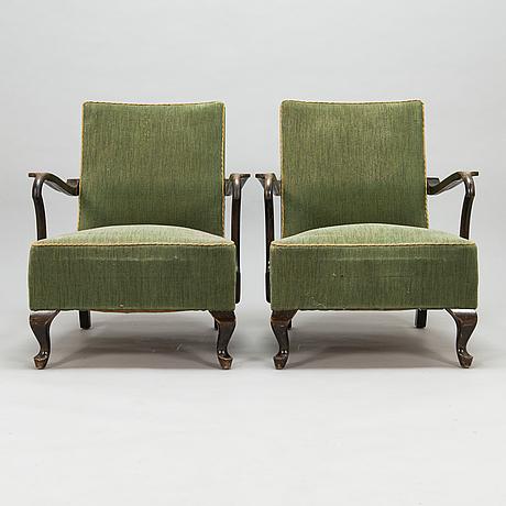 Fåtöljer, ett par, 1930-tal.