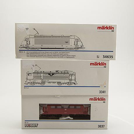 3 märklin h0 locomotives.