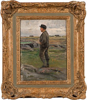 Berndt Lindholm, Boy in landscape.