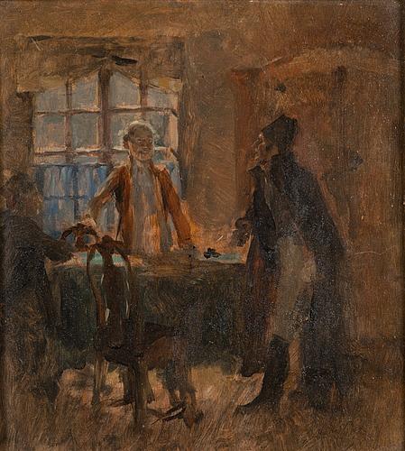 Gunnar berndtson, olja på pannå.